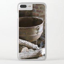 1800's Cooking Pot in Slave Quarters Civil War Era Clear iPhone Case