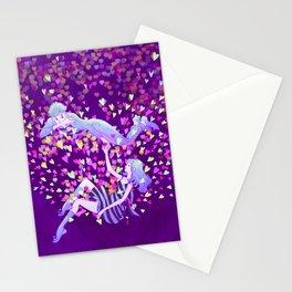 Sweet purple Valentine Stationery Cards
