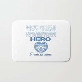 Police Officer's Mom Bath Mat