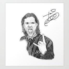 Jared Padalecki Art Print
