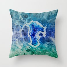 MINERAL MAZE Throw Pillow