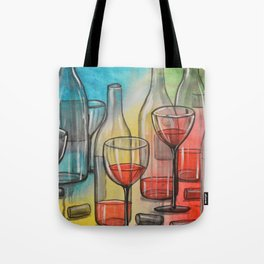Abstract wine art / Friday Night Tote Bag