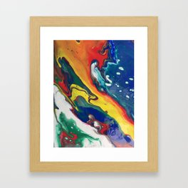 dirty pour ii Framed Art Print