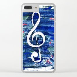 G clef or the sun key Clear iPhone Case