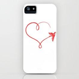 Heart Schwalbe Trajectory Flyer Gift iPhone Case