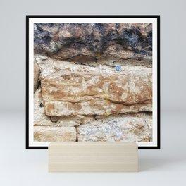Stone Wall with Nail Mini Art Print