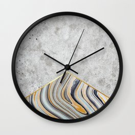 Concrete Arrow Blue Marble #177 Wall Clock