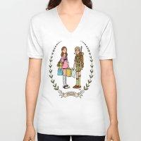 moonrise kingdom V-neck T-shirts featuring Moonrise Kingdom  by Dueling Doodlers
