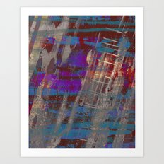 Depth - Abstract, Textured Oil Painting Art Print