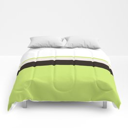 Modern Lime Green Color Block Gray Stripes White Comforters
