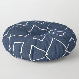 Bath in Navy Floor Pillow