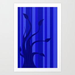 blue tree 2 Art Print