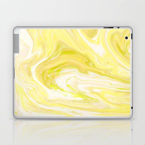 Yellow Glowing Marble Laptop & iPad Skin
