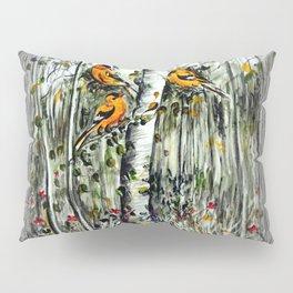 Gold Finches Pillow Sham