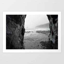 See it Before the Tide comes in - Second Beach, Olympic Peninsula, Washington State Art Print