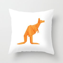Origami Kangaroo Throw Pillow