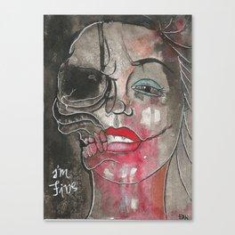 I'm fine. Canvas Print