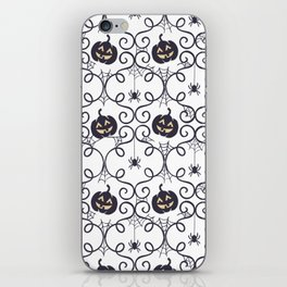 happy hallowen curves and pumkins pattern iPhone Skin