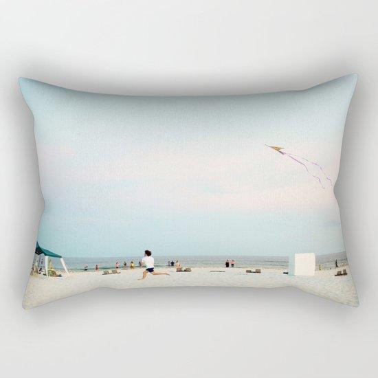 Running Beach Rectangular Pillow