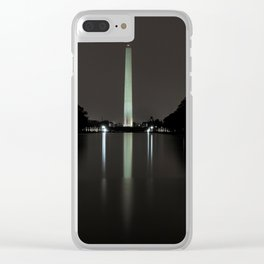 Washington Monument at Night Clear iPhone Case