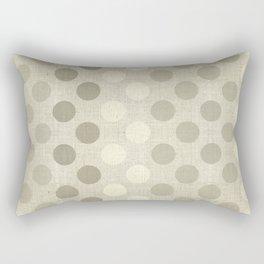 """""""Nude Burlap Texture and Polka Dots"""" Rectangular Pillow"""