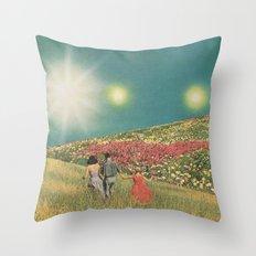 Towards the suns Throw Pillow