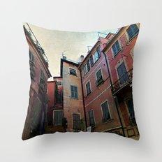 windows of Cinque Terre Throw Pillow