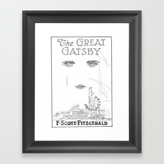 The Great Gatsby Framed Art Print