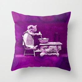 CatCurios 02A Throw Pillow