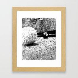 Billiards Art 4 Black and white Framed Art Print