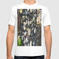 Haystack Rock's Low Tide White MEDIUM Mens Fitted Tee