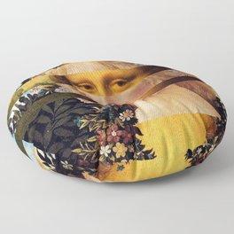 Leonardo Da Vinci'sMona Lisa & Botticelli's Venus Floor Pillow