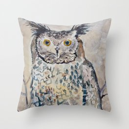 The Wandering Owl Throw Pillow