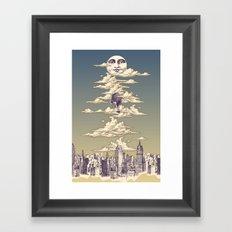 Go Ballooning! A Vintage Poster Recently! Framed Art Print