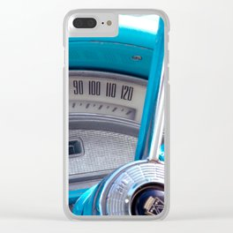 The blue steering wheel Clear iPhone Case