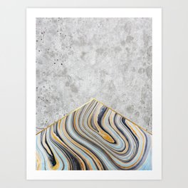 Concrete Arrow - Blue Marble #177 Art Print
