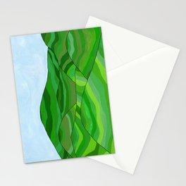 Tea fields landscape Stationery Cards