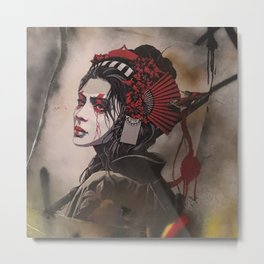 Asian Femme Fatale Metal Print