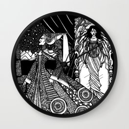 Snow White in the Mirror Wall Clock