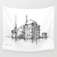 islam Wall Tapestries featuring Dolmabahce Mosque by Nikoloz Lekveishvili