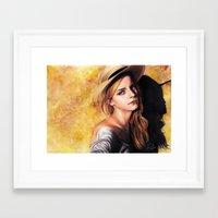 emma watson Framed Art Prints featuring EMMA WATSON by Laura Catrinella