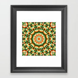 Green And Orange Abstract Framed Art Print