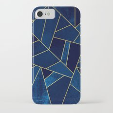 Blue stone with yellow lines Slim Case iPhone 7