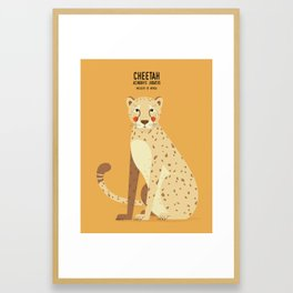 Cheetah, African Wildlife Framed Art Print