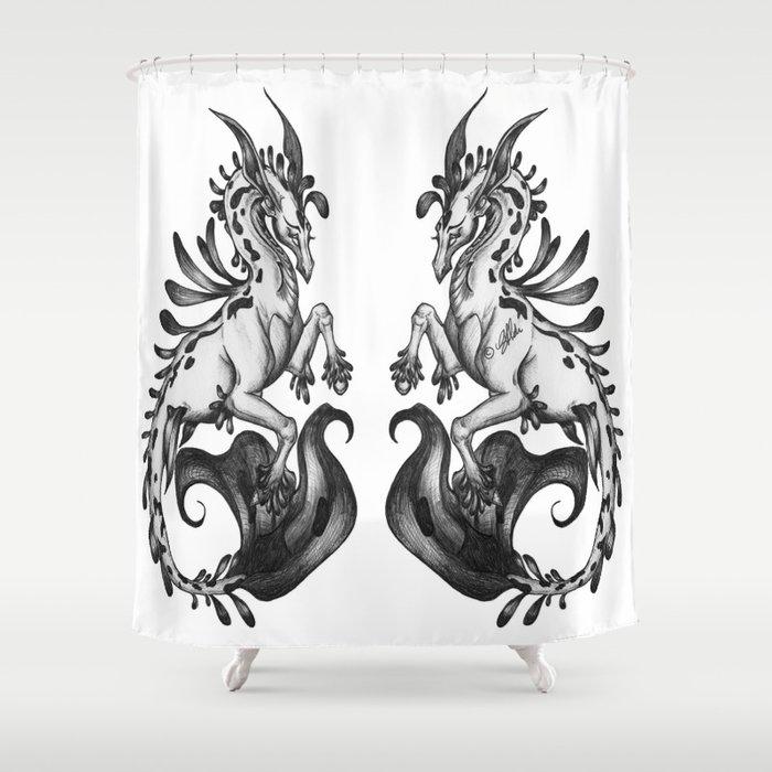 A Majestic Kelpie Shower Curtain