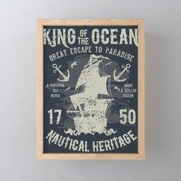 King of the Ocean Framed Mini Art Print