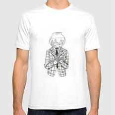 Now, where did he go? White MEDIUM Mens Fitted Tee