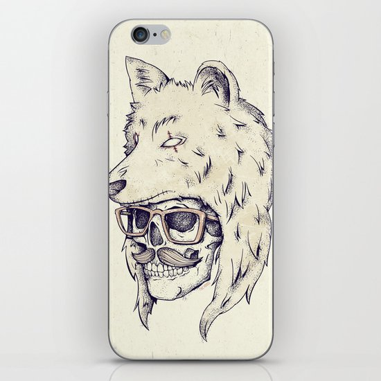 WOLF HAT iPhone & iPod Skin
