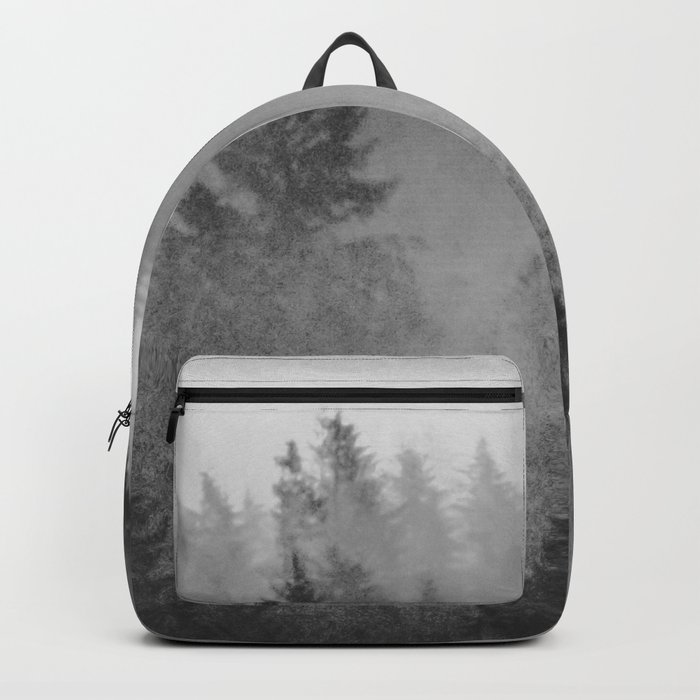 Black and White Forest Abstract Rucksack