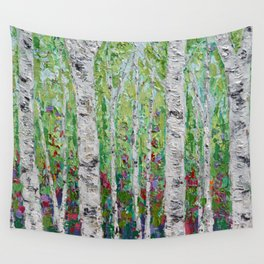 Springtime Birch Forest Wall Tapestry